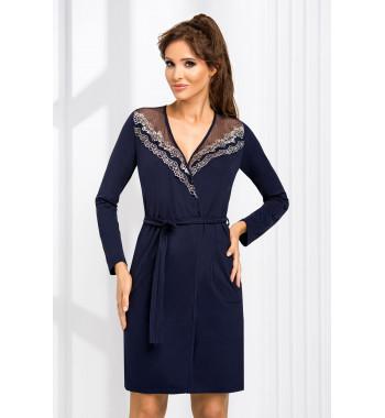 Халат на запахе Jasmine dressing gown Dark Blue
