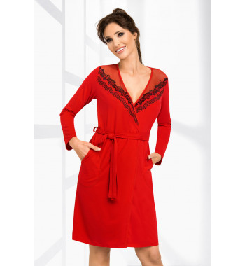 Халат на запахе Jasmine dressing gown Red