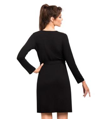 Халат на запахе Jasmine dressing gown Black