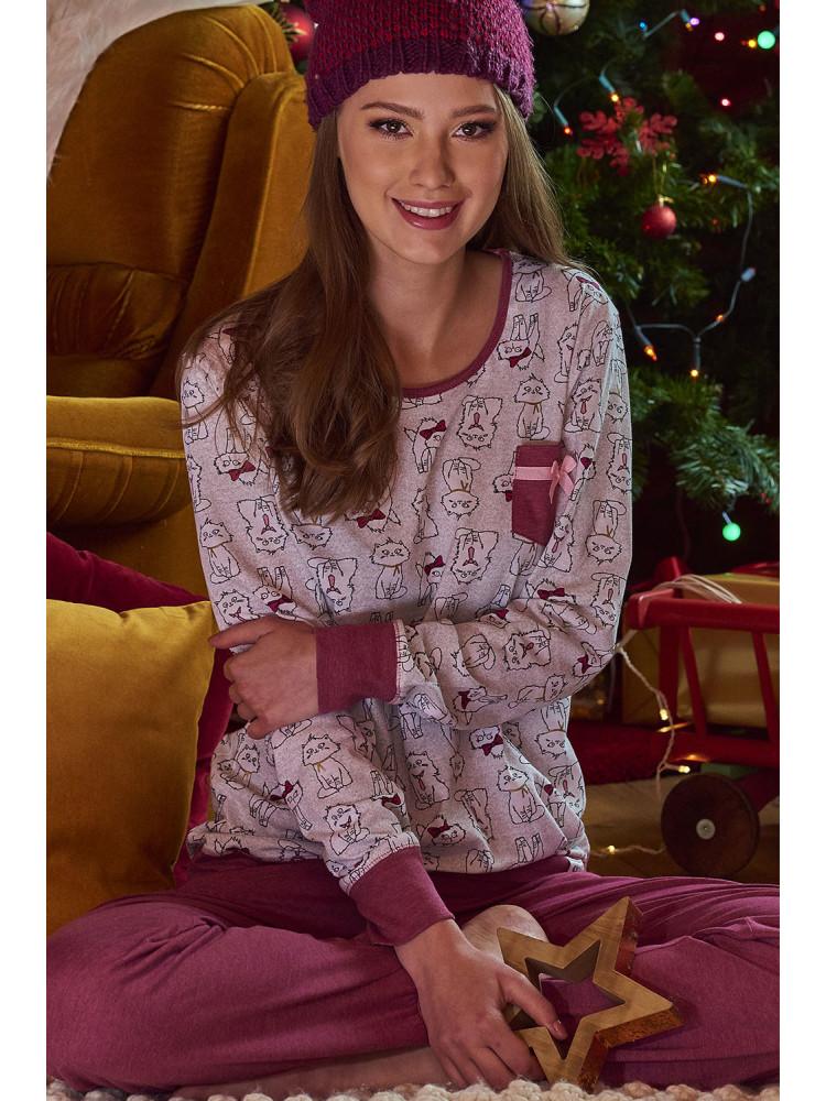 Теплая женская пижама PM.9325 Blueberry