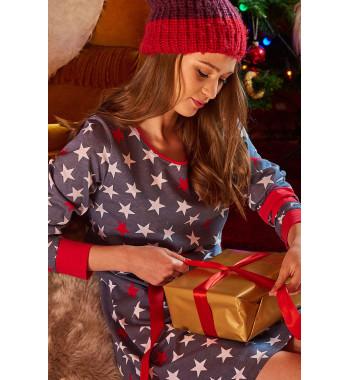 Женская домашняя ночная сорочка с длинными рукавами TM.9350 Grey