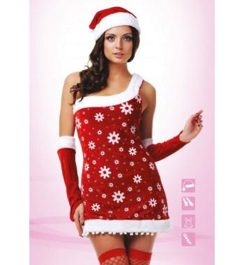 Новогодний костюм снегурочки 02806 snowgirl