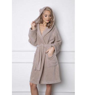 Пушистый халат с капюшоном с ушками Aruelle BEARY