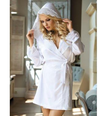 Белый халат для невесты Excellent Beauty N-703