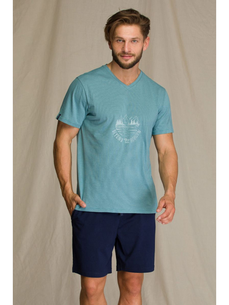 KEY MNS 073 A21 Пижама мужская с шортами