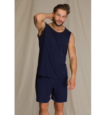 KEY MNS 001 A21 Пижама мужская с шортами