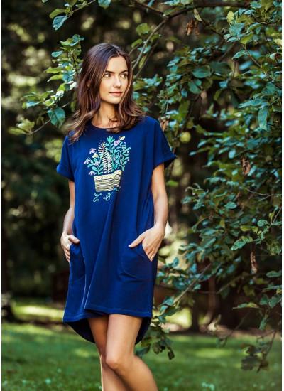 KEY LHD 055 Платье домашнее/Сорочка