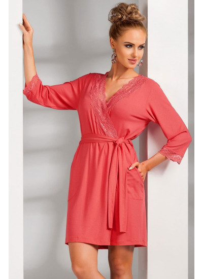 Nadia dressing gown Coral