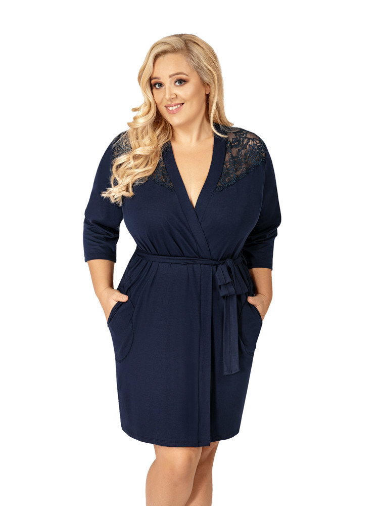 Халат Tess plus dressing gown Dark Blue