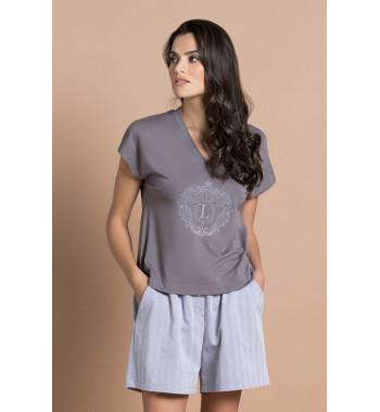 Пижама 51704 Серо-Коричневый