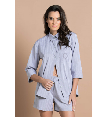 Пижама 61531 Серо-Белый