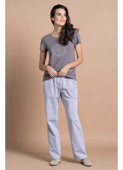 Пижама 51705 Серо-Коричневый