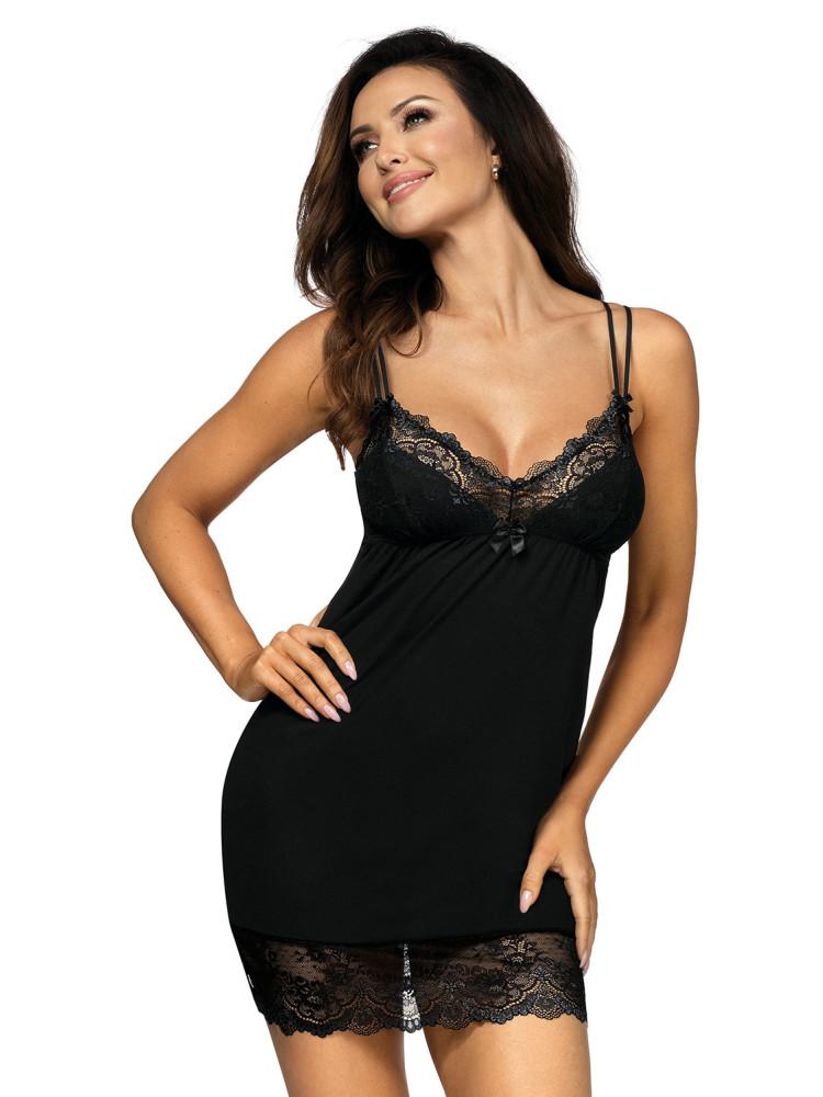 Pamela nightdress Black