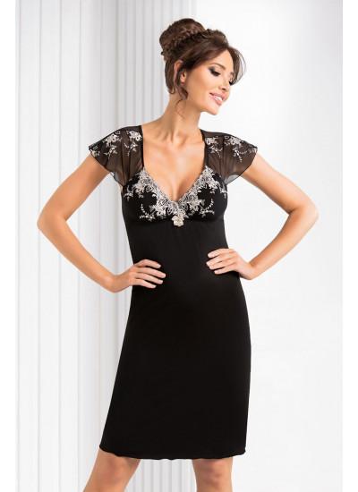 Valentine nightdress Black