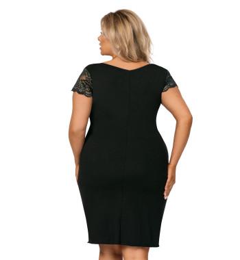 Tess plus nightdress Black