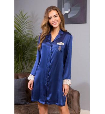 Рубашка Kristy 15114 т.синий