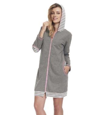 Женский халат на молнии 9395 SMZ