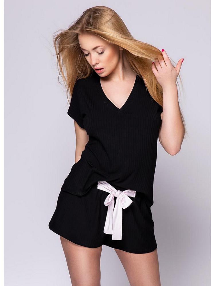SAVANNAH CZARNY Комплект женский с шортами
