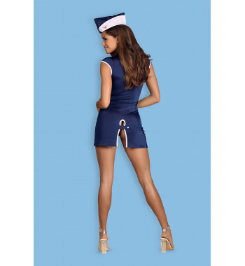 Интригующий костюм стюардессы Stewardess dress Blue