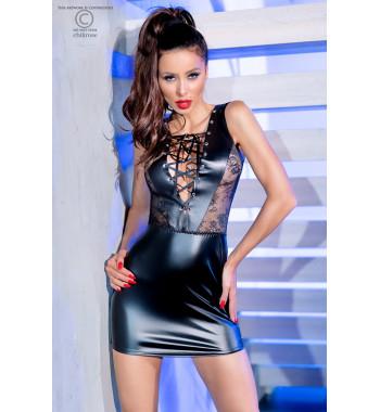 4339 Leatherlook мини-платье