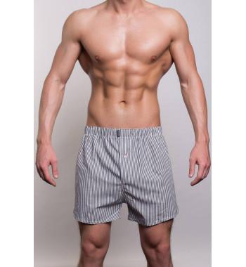 Мужские хлопковые трусы-шорты 3310-3 серого цвета.
