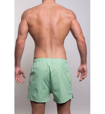 Мужские хлопковые трусы-шорты 3310-5 зеленого цвета.