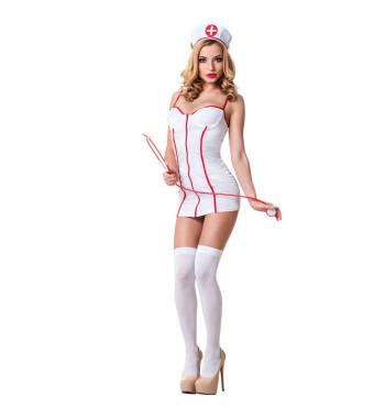 Белый костюм медсестры для эротических игр 02206
