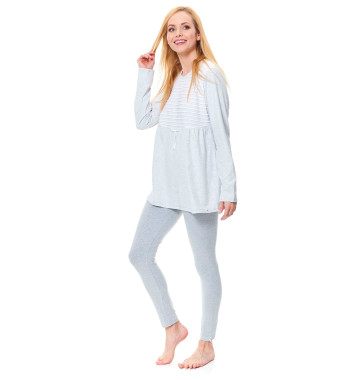 Молодежная пижама PM.9531 Grey Melange серого цвета