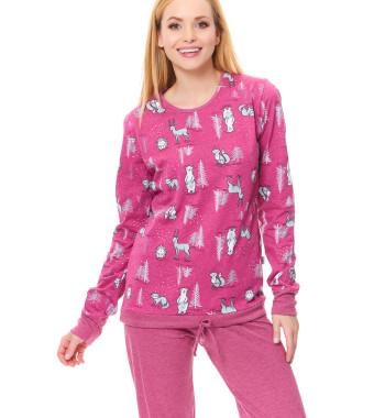 Молодежная пижама PM.9543 Blueberry цвета фуксия