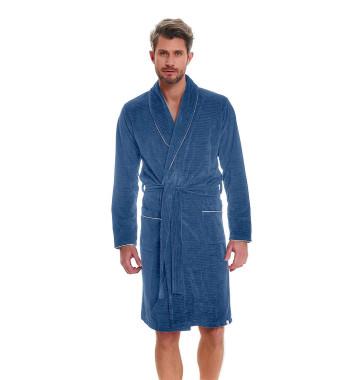 Мужской халат голубого цвета SMS.6063 Blue