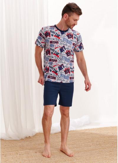 2471 AW20/21 PIOTR Пижама мужская с шортами
