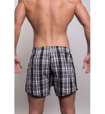 Мужские хлопковые трусы-шорты 3310-4 в клетку.