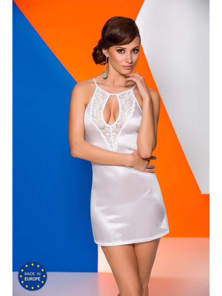 Белая атласная сорочка Catalina chemise