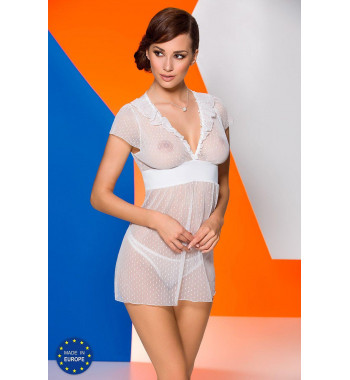 Белая ажурная сорочка Effi chemise White