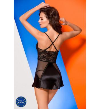 Черная прозрачная сорочка Enna chemise